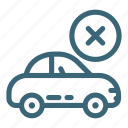 auto, automobile, car, delete, engine, recycling, vehicle icon