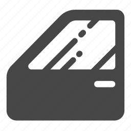 auto parts, automobile, car, door, service, windscreen, windshield icon