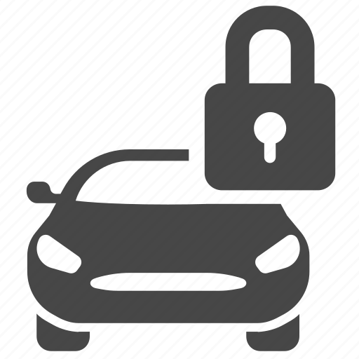 car, central lock, lock, protection, secure, security, vehicle icon