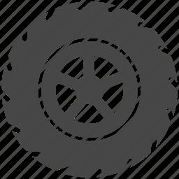 auto, auto parts, automobile, car, tire, vehicle, wheel icon