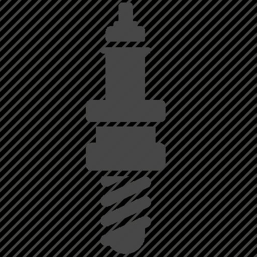 auto parts, automobile, car, part, spark plug, starter, vehicle icon