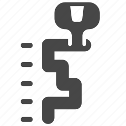 auto, automobile, car, gear, gear knob, gear lever, gear stick icon
