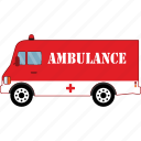 ambulance, car, road, transport, vehicle icon