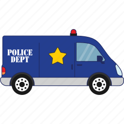 car, police, traffic, transport, vehicle icon