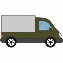 car, delivery, road, transport, vehicle icon
