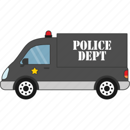 car, police, road, transport, vehicle icon