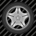auto, automobile, car, disk, road, tire, wheel