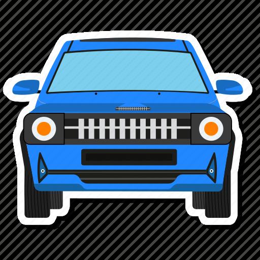 automobile, car, cartoon car, vehicle icon