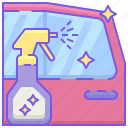 cleaner, glass, glass cleaner, spray, window cleaner icon