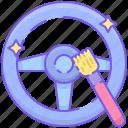 car steering, detailing, interior, interior detailing, steering, steering wheel icon