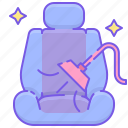 car seat, cleaning, seat, seat cleaning icon