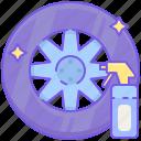dressing, tire, tire dressing, tire polish, tire polishing, wheel dressing, wheel polishing icon