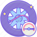 tire, tire maintenance, tire pressure, wheel, wheel alignment, wheel balancing, wheel maintenance icon