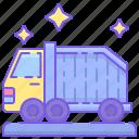 dump truck, garbage truck, lorry, truck icon