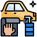 automobile, car, clean, cleaning, service, wash, washing icon
