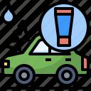 car, clean, rain, repellent, service, wash, washing icon