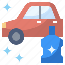 car, clean, cleaning, service, wash, washing, waxing icon