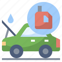 car, change, clean, oil, service, wash, washing icon