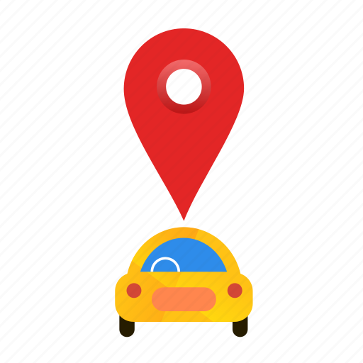 Autonomous, busy, car, location, self-drive icon - Download on Iconfinder