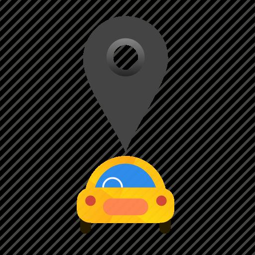 autonomous, car, location, offline, self-drive icon
