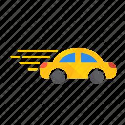 autonomous, car, fast, fast car, model, self-drive, speed icon