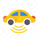 autonomous, bottom, car, self-drive, sensor, side icon