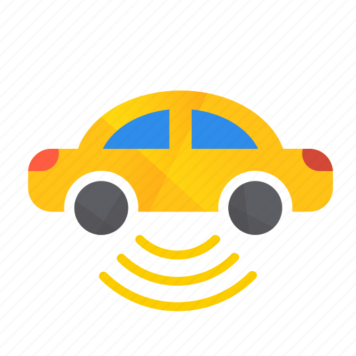 autonomous, bottom, car, self-drive, sensor, side icon