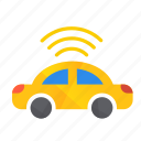 autonomous, car, self-drive, sensor, side, top icon