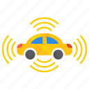 all, autonomous, car, self-drive, sensor, side icon