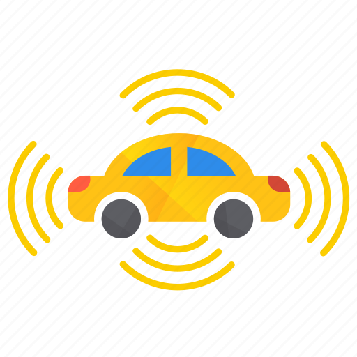 all, autonomous, car, self-drive, sensor, side icon