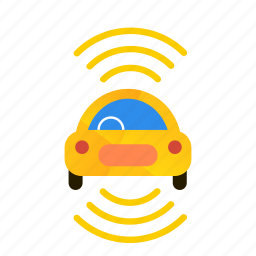 autonomous, bottom, car, self-drive, sensors, side, top icon