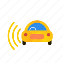 autonomous, car, left, self-drive, sensor, side icon