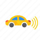 autonomous, car, right, self-drive, sensor, side icon