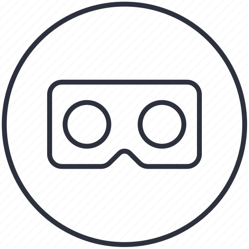 cardboard, vr icon