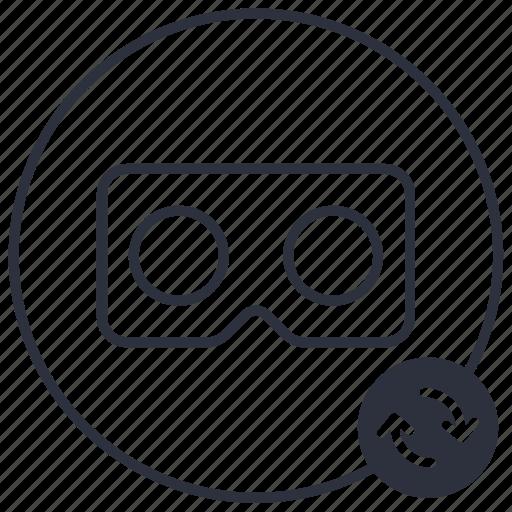 arrows, cardboard, recharge, refresh, vr icon
