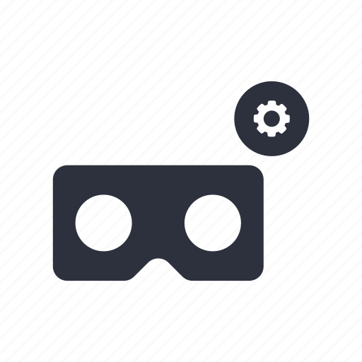 cardboard, preferences, setting, vr icon