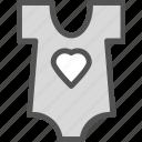 baby, heart, love, shirt