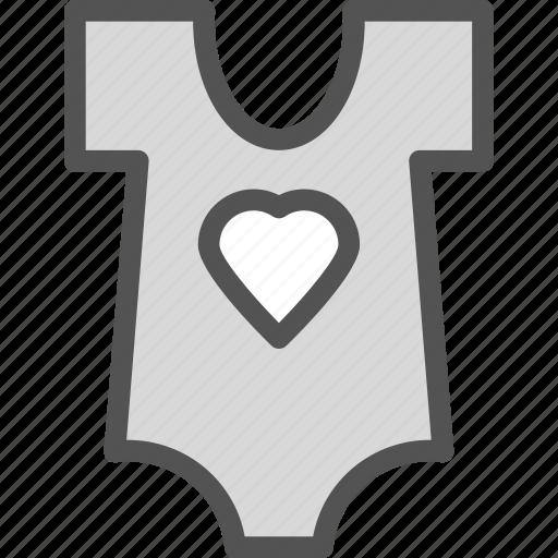 baby, heart, love, shirt icon
