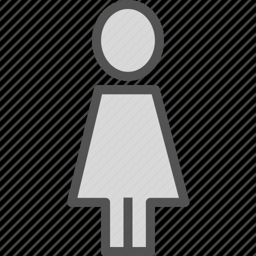 female, sign, toiet icon