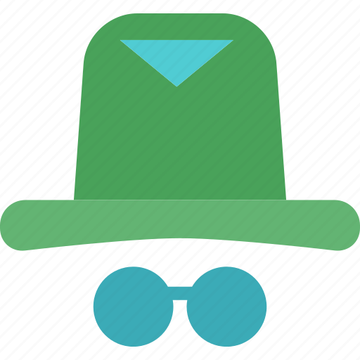 glasses, hat, hipster icon