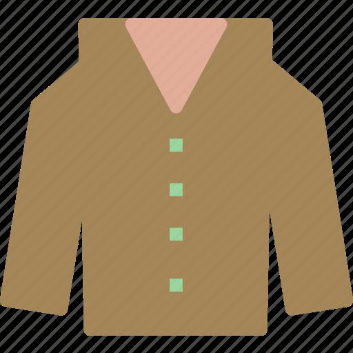 coat, jacket, leather, long, winter icon