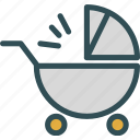 baby, car, seat, walker icon