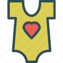 baby, heart, love, shirt icon
