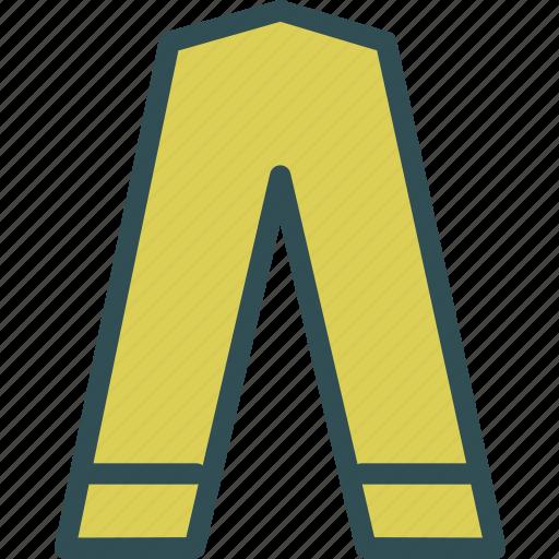 clothes, long, pants icon