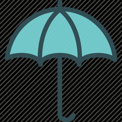 antivirus, rain, shield, umbrella, weather icon