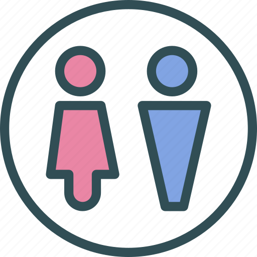 bath, common, public, restroom, toilet, unisex icon