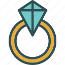 diamond, jewelry, ring, wedding icon