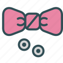 bowtie, buttons, fancy, fashion, tux icon