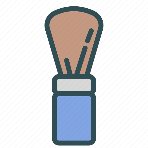 beard, brush, man, shave icon