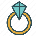 diamond, engagement, ring, wedding icon